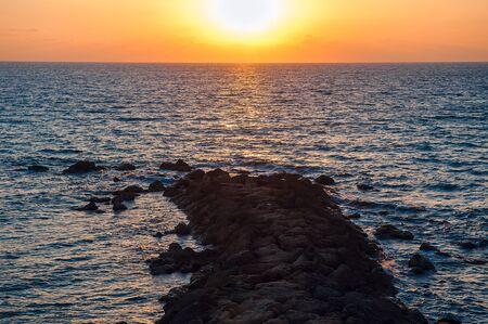 Evening sunset on the sea Stock Photo - 15476712