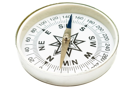 Tourist compass on a white background photo