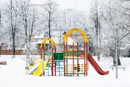 childrens entertainment during the winter slide photo