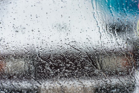 rain drops on glass with a background Stock Photo - 17470622