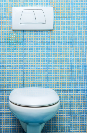 push the toilet room built into the wall Stock Photo - 23381172