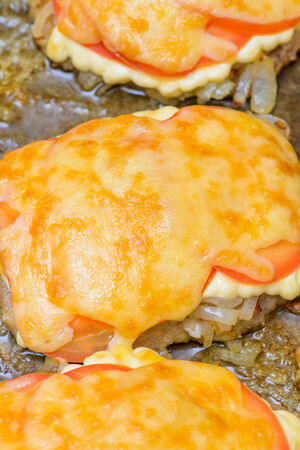 cooking baked with mayonnaise and cheese photo