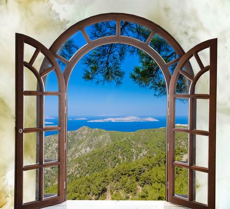 Blick aus dem fenster bilder  Blick Aus Dem Fenster Lizenzfreie Vektorgrafiken Kaufen: 123RF
