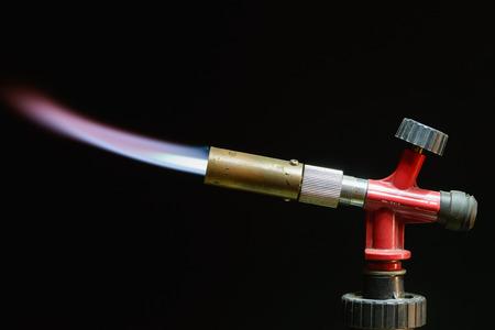 instrument gas burner flame burns blue machine photo