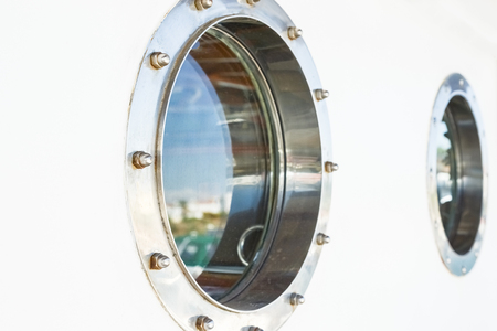 round window: round window on the left side