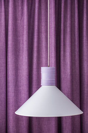 lamp shade: white lamp shade electric hanging curtains purple background
