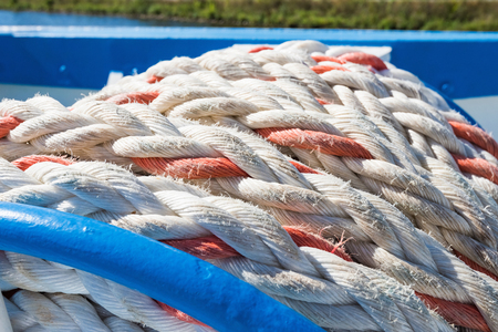 mooring rope is wound on board the ship to berth