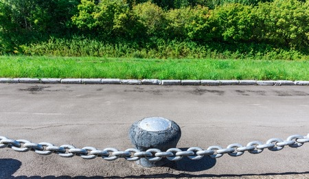 powerful: old painted powerful iron chain link fence