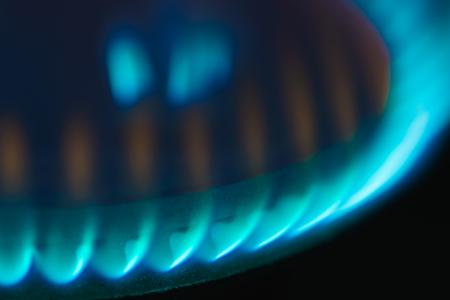 Estufa para cocinar el gas de los tanques azules de la estufa Foto de archivo - 92036790