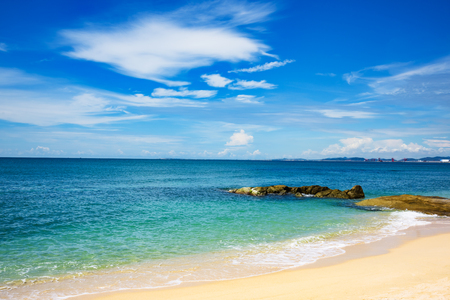 The South China sea off the Vietnamese coast near  of Nha Trang. Stock Photo