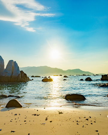 The South China sea off the Vietnamese coast near  of Nha Trang. Reklamní fotografie