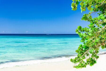sandy sea beach the Caribbean Sea Stock Photo
