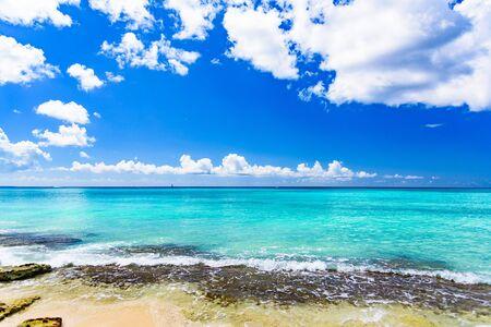 sandy sea beach Stock Photo