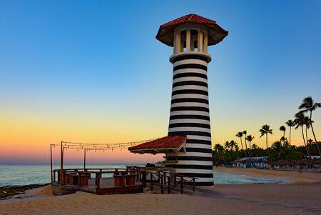 caribbean sea sunrise lighthouse Reklamní fotografie