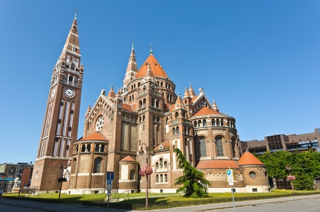 The back of the votive church, Szeged, Hungary Stock Photo - 10801234