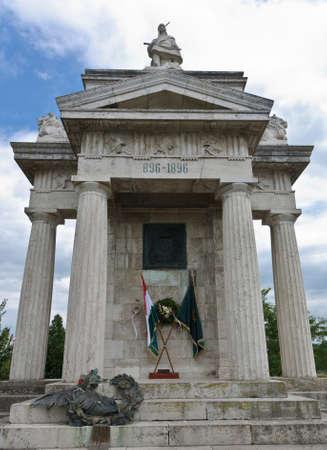 millennial: Millennial monument of Arpad in Opusztaszer, Hungary