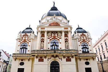 Theatre of Pecs, Hungary, with white sky Stock Photo - 10839047