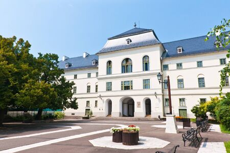 dormitory: Back view of the old dormitory in Sarospatak, Hungary