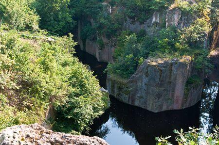 millstone: Tarn in the abandoned millstone mine of Sarospatak, Hungary