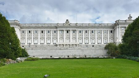 Detailed view of royal palace in Madrid, Spain