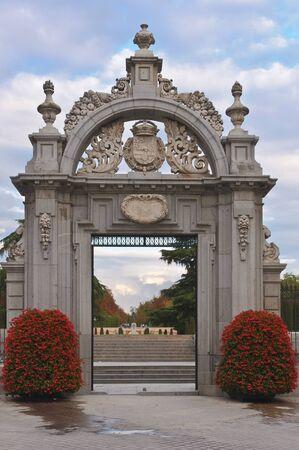 Entrance to the Parque del Buen Retiro in Madrid, Spain
