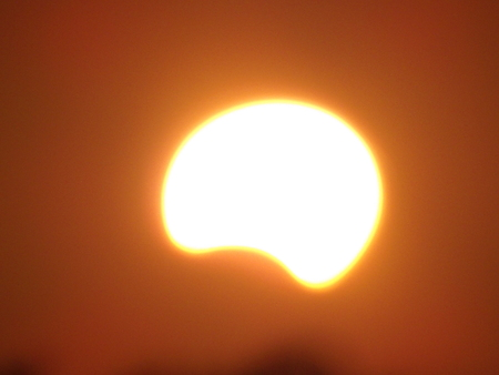 eclipse: Eclipse from Santiago