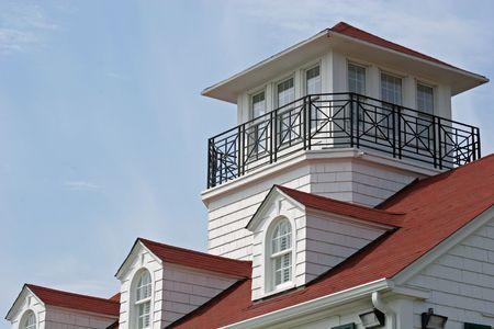 Roofline of coastal cottage Stock Photo - 408932