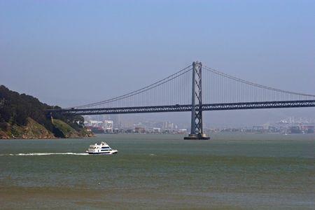 Bay bridge in Oakland Bay Banco de Imagens