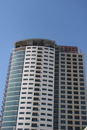 Partially complete construction tower Banco de Imagens