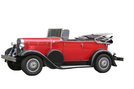 Antique Red Roadster