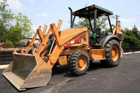 job site: Heavy equipment at job site