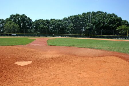 terrain de baseball: Baseball champ � l'arri�re de la plaque