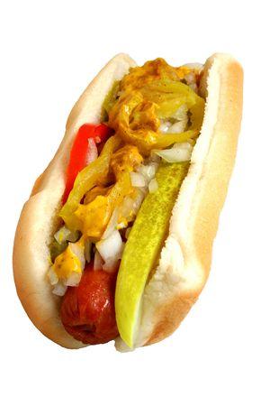 Hot Dog isolated on white