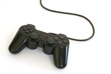 playstation: Video game controller isolated on white