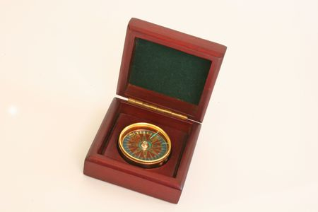 find: A Compass in wooden box