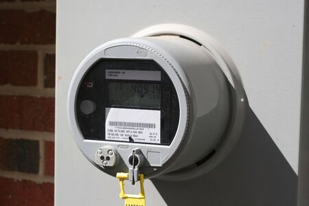 Single electric meter on commercial building