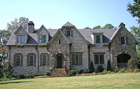 A Nice stone mansion against blue sky Stock Photo - 568443