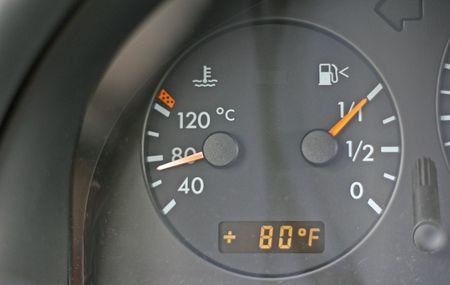 Water Temperature gauge on car showing cool temperature Reklamní fotografie