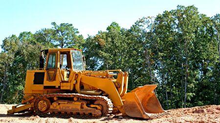 grading: Amarillo topadora clasificaci�n de las nuevas obras de construcci�n
