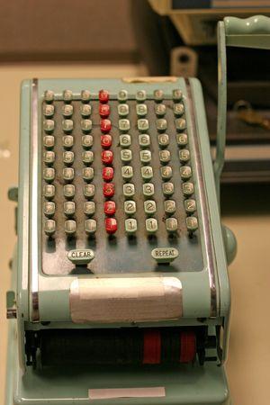 teclado num�rico: Comprobar la antigua m�quina de escribir con el teclado num�rico