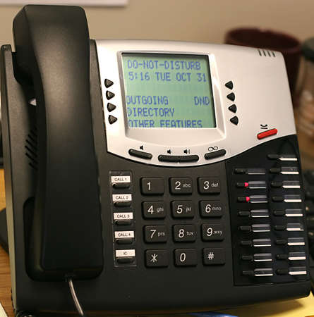 Multi-line business phone with lcd display and digital technology Banco de Imagens