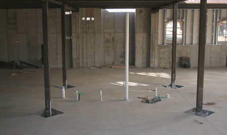 Basement and support construction at new job site Stock Photo - 674582
