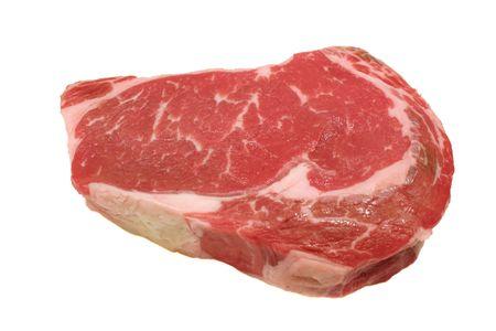 main market: A fresh raw ribeye steak ready for the grill