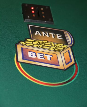 Betting circle on a caribbean stud poker table