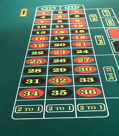 View of the numbers on a roulette table Stock Photo - 793282