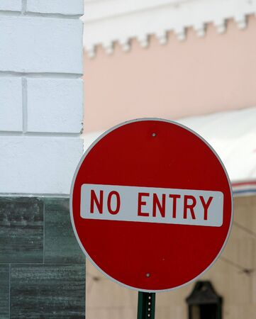 A No Entry sign on a street Stock Photo - 855718