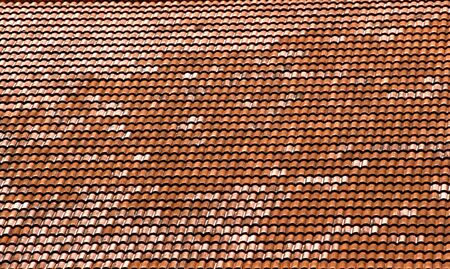 Red clay roof tiles good for a background