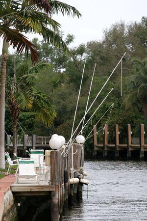 釣り竿、ドックに放置