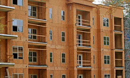 Wood Framed construction of an apartment complex