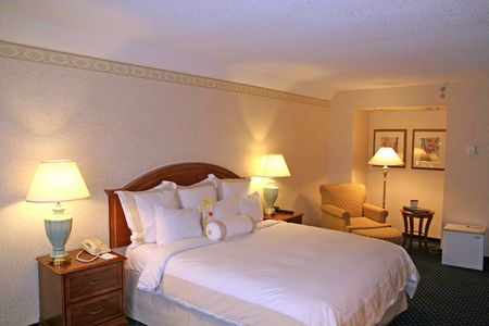A nice luxury hotel room for business travel